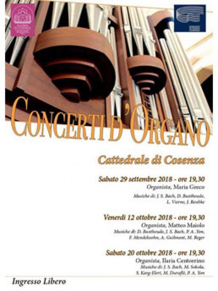 COSENZA – Concerti d'organo in Cattedrale