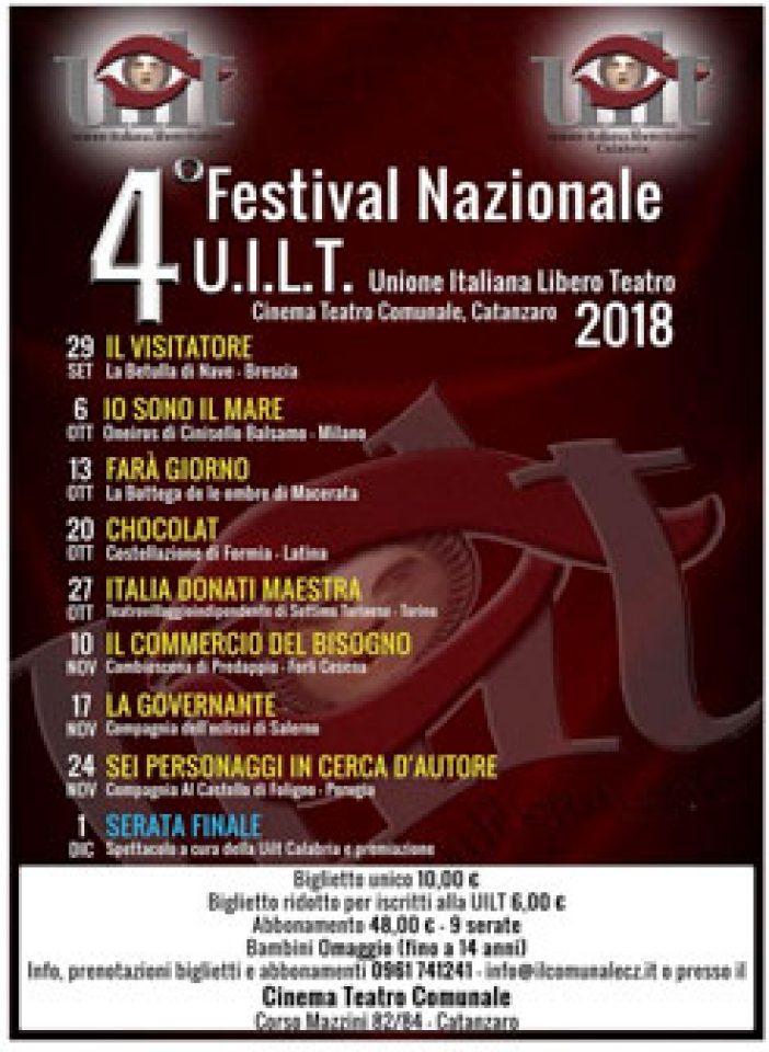 CATANZARO – Il 4° Festival Nazionale del Teatro Amatoriale