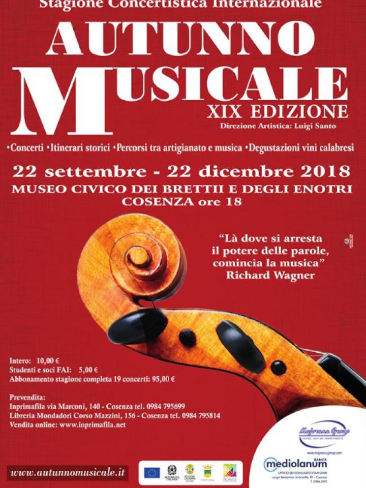 COSENZA: L'AUTUNNO MUSICALE AL MUSEO