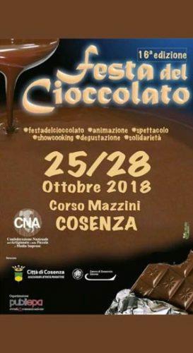 COSENZA – Dal 25 al 28 la festa del Cioccolato