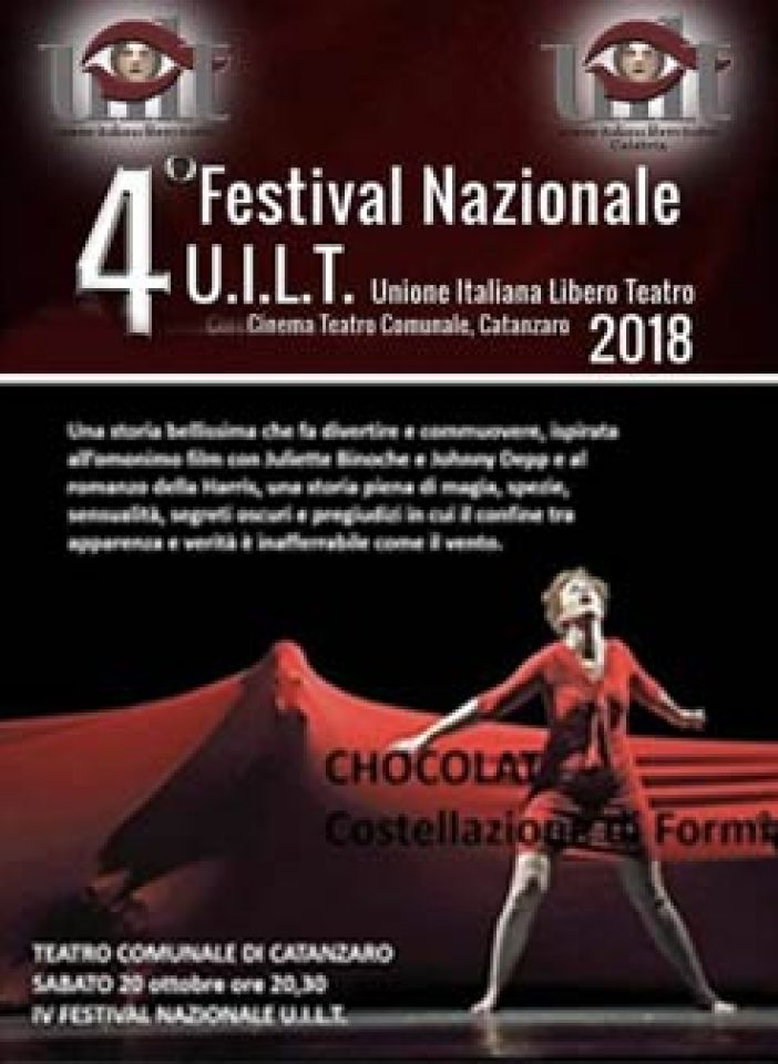 """CATANZARO – UILT, In scena """"Chocolat"""""""