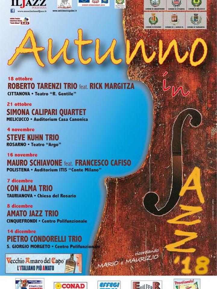 """""""Autunno in jazz"""" chiude oggi a S. Giorgio Morgeto"""