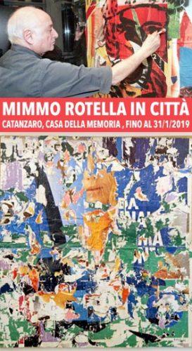 """CATANZARO – La mostra """"Mimmo Rotella in città"""""""
