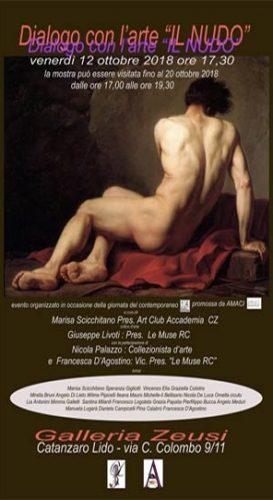"""CATANZARO – La mostra """"Dialogo con l'arte – Il nudo"""""""