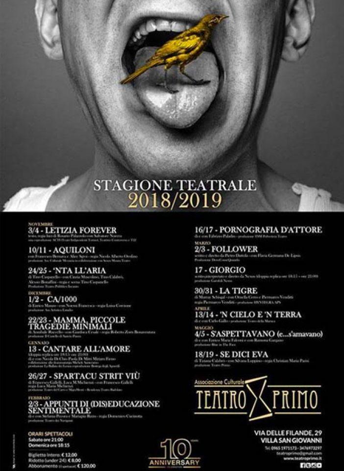 VILLA S. GIOVANNI – Il calendario di Teatro Primo