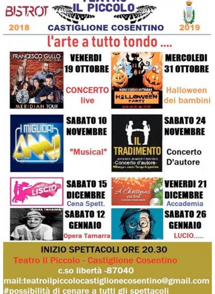 """CASTIGLIONE C. – Teatro, il cartellone del """"Il Piccolo"""""""