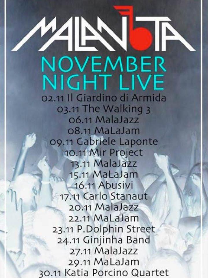 REGGIO: Novembre al Malanota Jazz