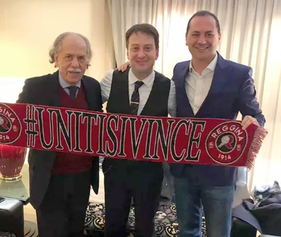 Mimmo Praticò, Luca Gallo e il sen. Marco Siclari