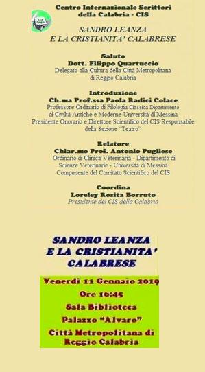 Il Cis della Calabria parla di Sandro Leanza