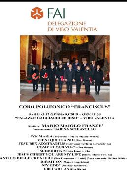 """Concerto Coro Polifonico """"Franciscus"""" a Vibo"""