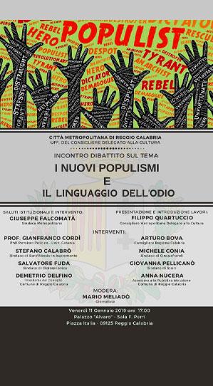 Incontro-dibattito Reggio Calabria
