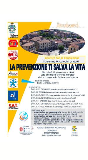 La prevenzione ti salva la vita Soveria Mannelli