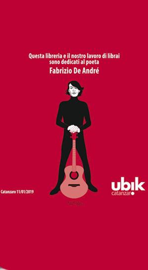 Libreria Ubik Catanzaro dedicata a De Andrè