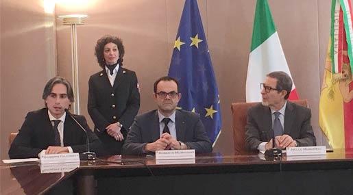 Giuseppe Falcomatà. Roberto Musmanno e Nello Musumeci