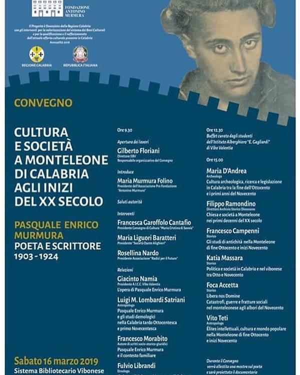 Convegno su Pasquale Enrico Murmura