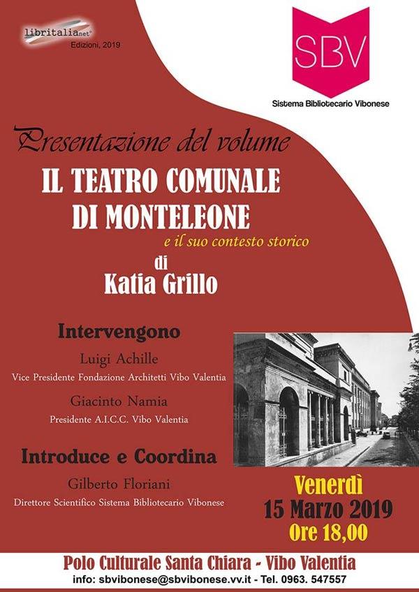"""Libro """"Il teatro comunale di Montelone"""" di Katia Grillo"""