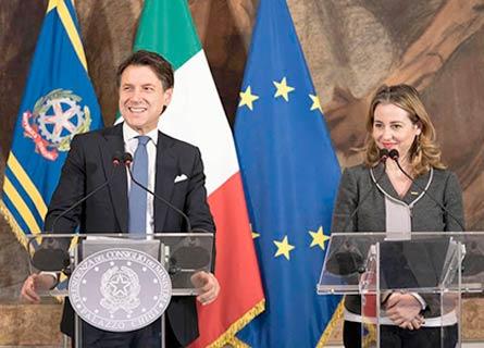 Giuseppe Conte e Giulia Grillo