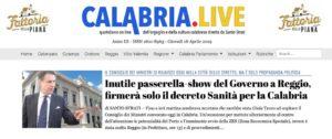 Calabria.Live del 18 aprile 2018
