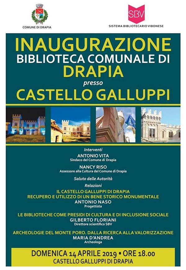 Inaugurazione Biblioteca Comunale a Drapia