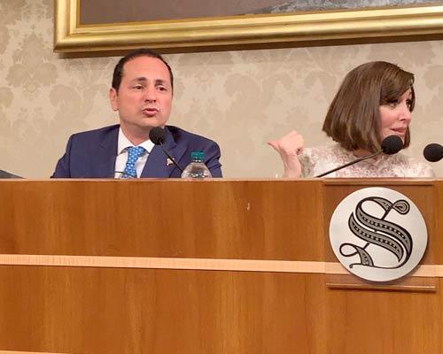 Marco Siclari e Anna Maria Bernini