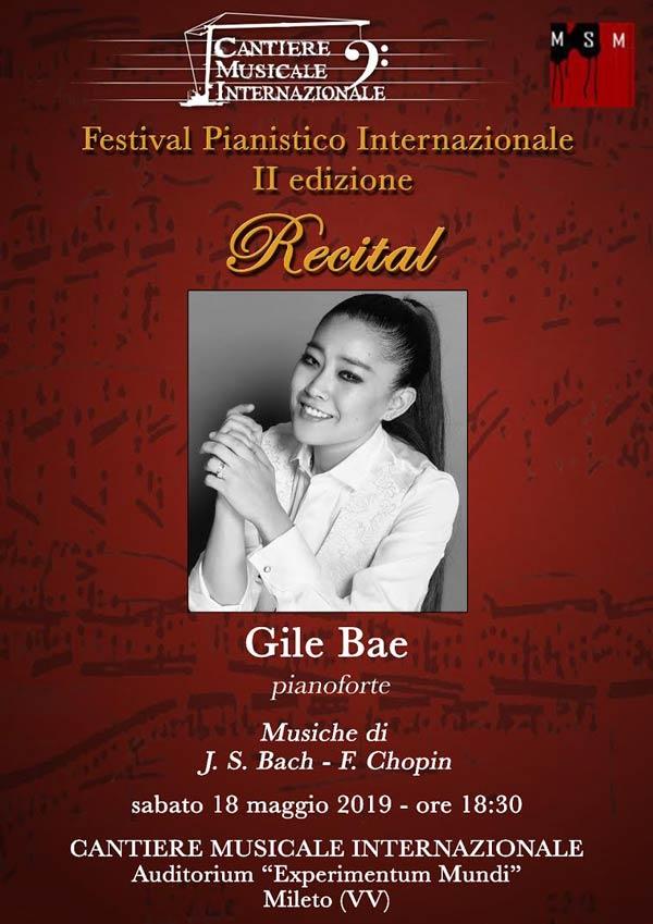 Gile Bae in concerto