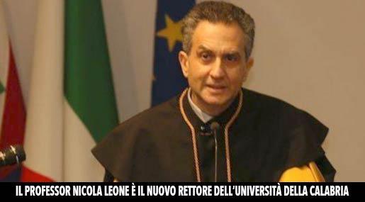 Nicola Leone, nuore Rettore Unical