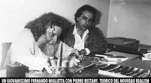 Pierre Restany e Fernando Miglietta