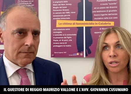 Il questore Maurizio Vallone e l'avv. Giovanna Cusumano