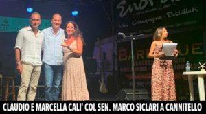 Caludio Cal', Marco Siclari e Marcella Calì