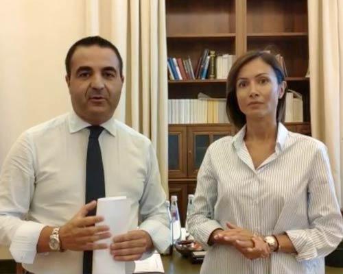 Francesco Cannizzaro e Mara Carfagna