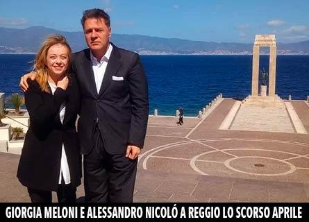 Giorgia Meloni e Alessandro Nicolò a Reggio lo scorso aprile