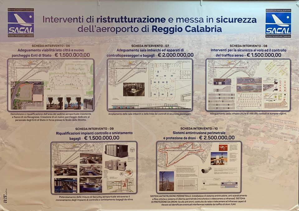 Piano interventi Aeroporto di Reggio Calabria
