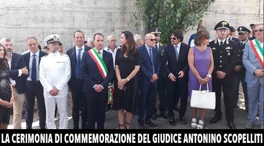 La cerimonia del 28° anniversario dell'uccisione del giudice Scopelliti