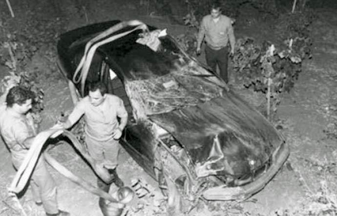 L'auto del giudice Scopelliti