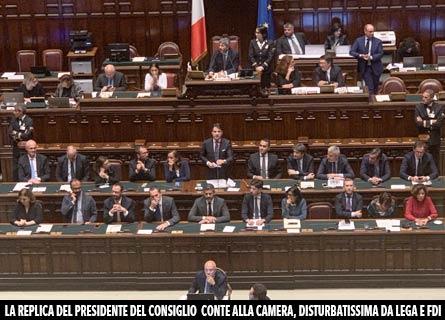 La fiducia alla Camera al Governo Conte 2