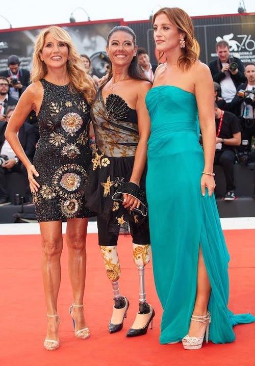 Jo Squillo, Giusy Versace e Francesca Carollo