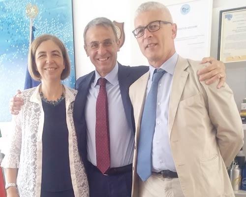 La sen. COrrado, il ministro Costa e il presidente della Commissione Antimafia Morra