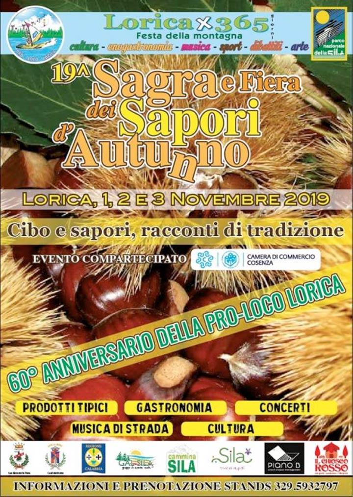 Sagra dei sapori d'autunno a Lorica