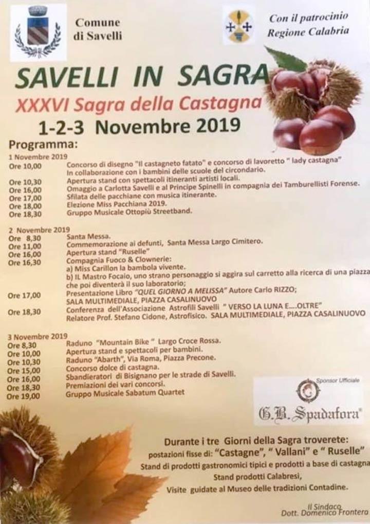 Sagra della Castagna a Savelli