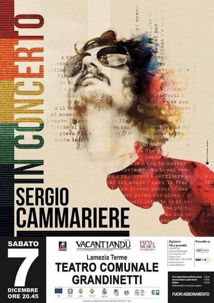 LAMEZIA TERME - Il 7 dicembre Sergio Cammariere in concerto - Calabria Live