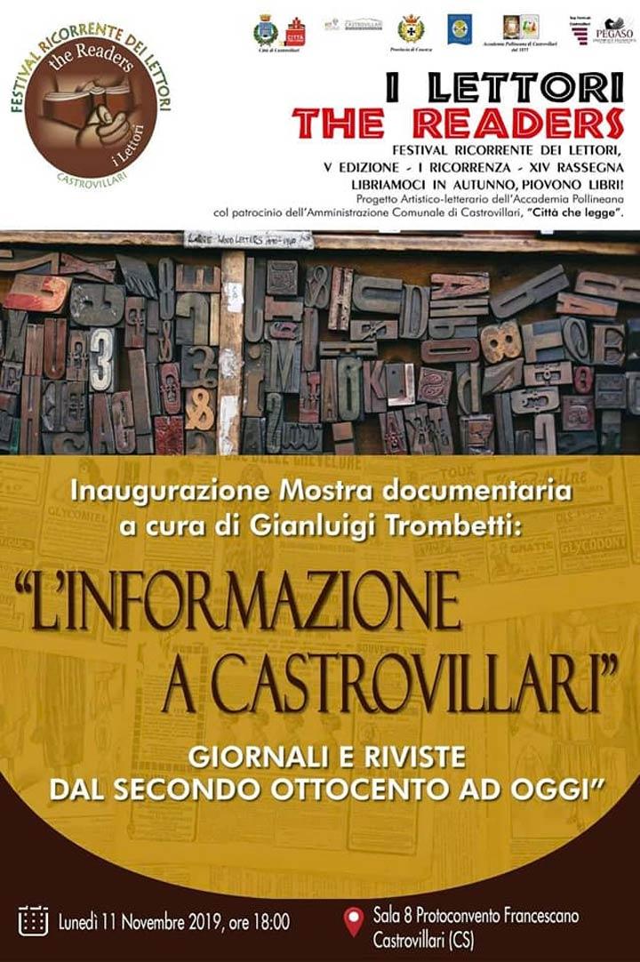 """CASTROVILLARI (CS) - La mostra """"L'informazione a Castrovillari"""" - Calabria Live"""
