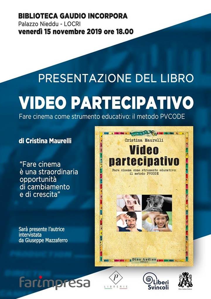 """LOCRI (RC) - Il libro """"Video Partecipativo"""" di Cristina Maurelli - Calabria Live"""