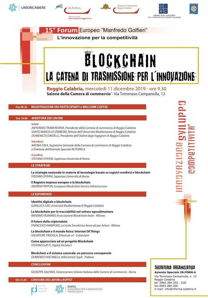 Convegno Reggio su Blockchain