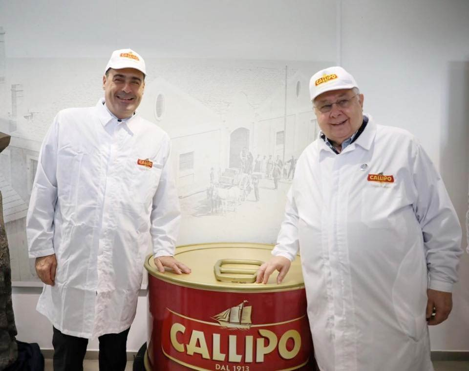 Nicola Zingaretti e Pippo Callipo