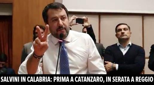 Matteo Salvini a Reggio