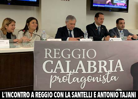 Maria Tripodi, Jole Santelli, Antonio Tajani, Marco Siclari e Francesco Cannizzaro