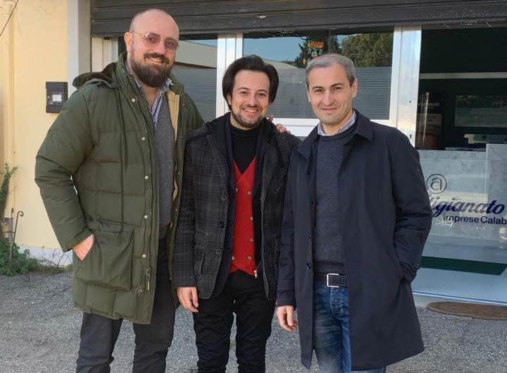 Alessio Sculco, Stefano Gagliardi e Ivan Cardamone