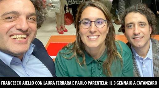 Francesco Aiello, Laura Ferrara e Paolo Parentela