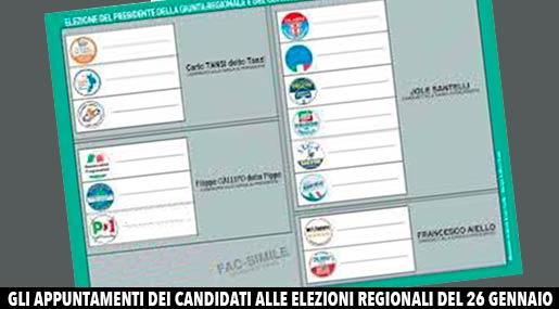 Facsimile scheda elettorale Calabria 2020