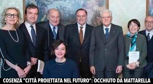 Mario Occhiuto, Giuseppe De Rita e Sergio Mattarella